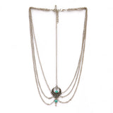 Turquoise bead silver Headchain