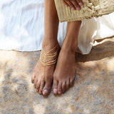 Golden Multilayer anklet - Joker & Witch - 3