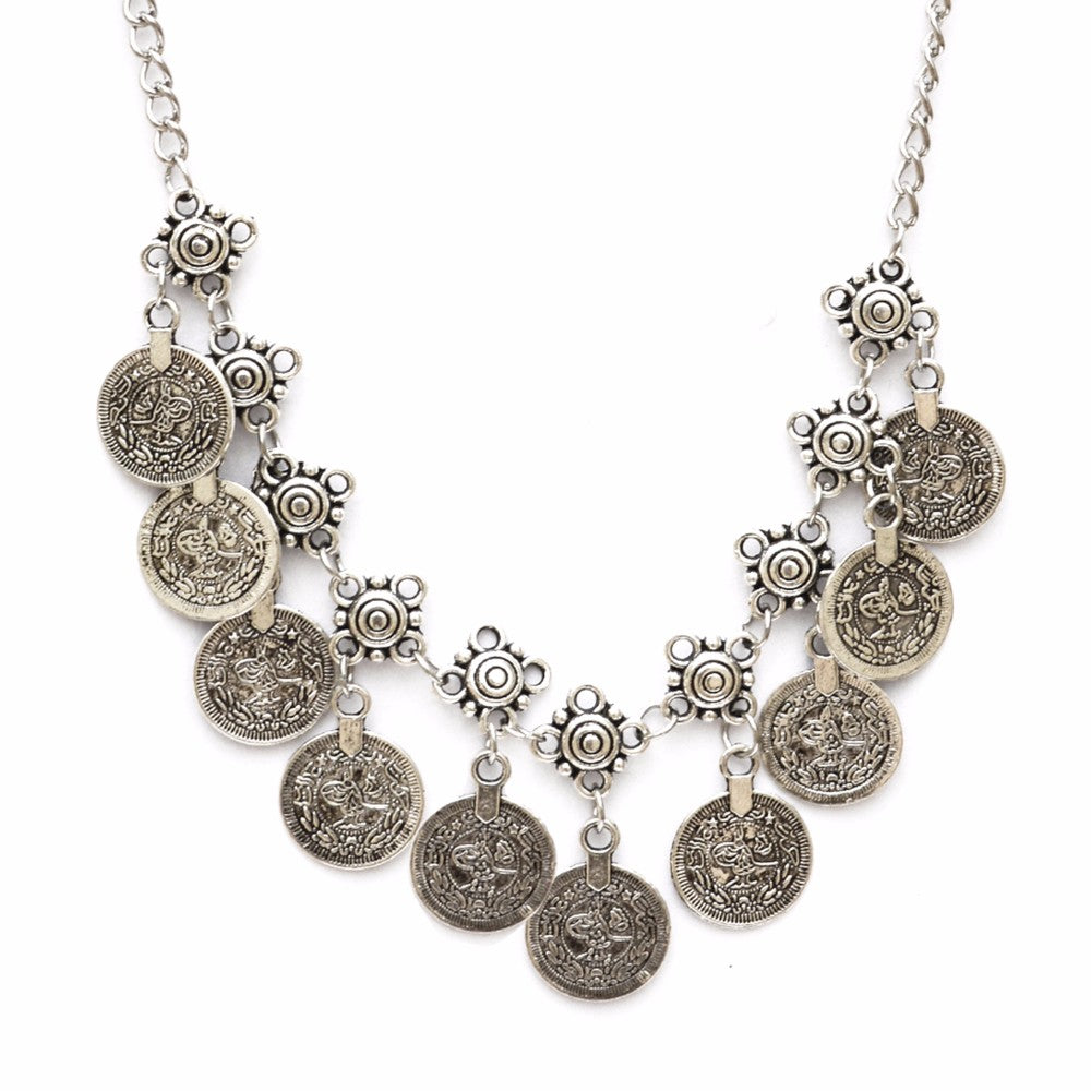 Simple coin drop necklace