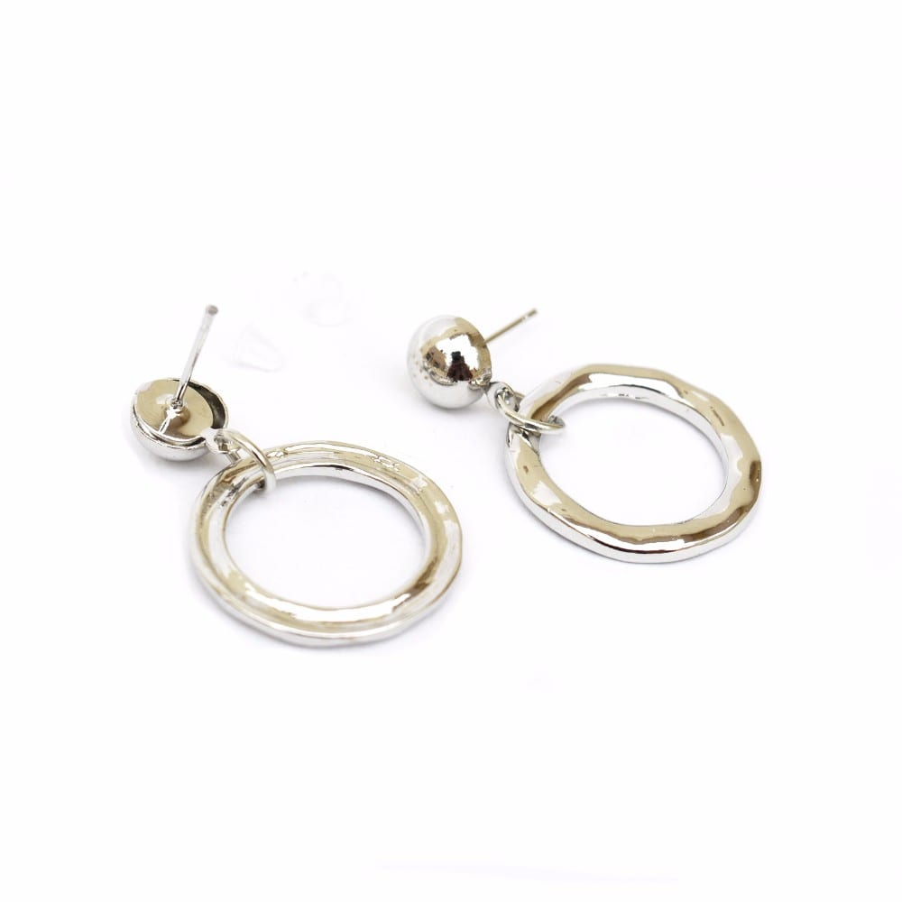 Minimial Loop Silver Earrings