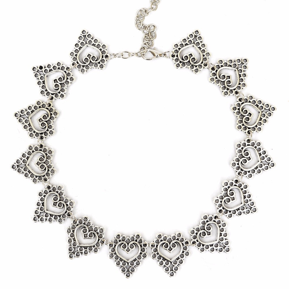 Silver Filigree Choker - Joker & Witch