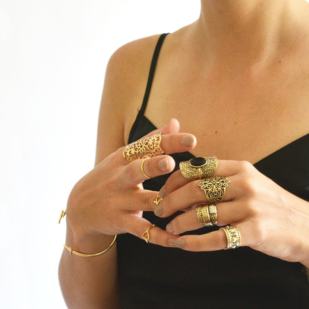 Gypsy Style Set of 4 rings