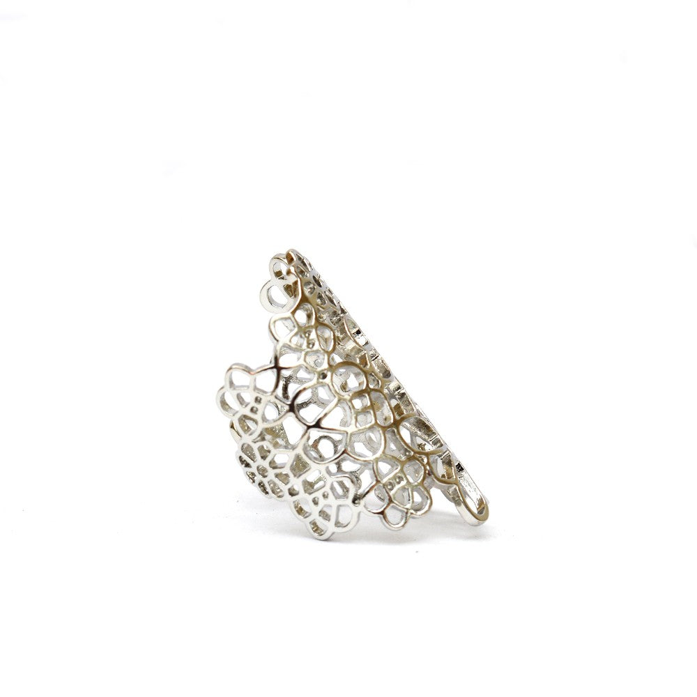 Silver Statement Filigree Ring