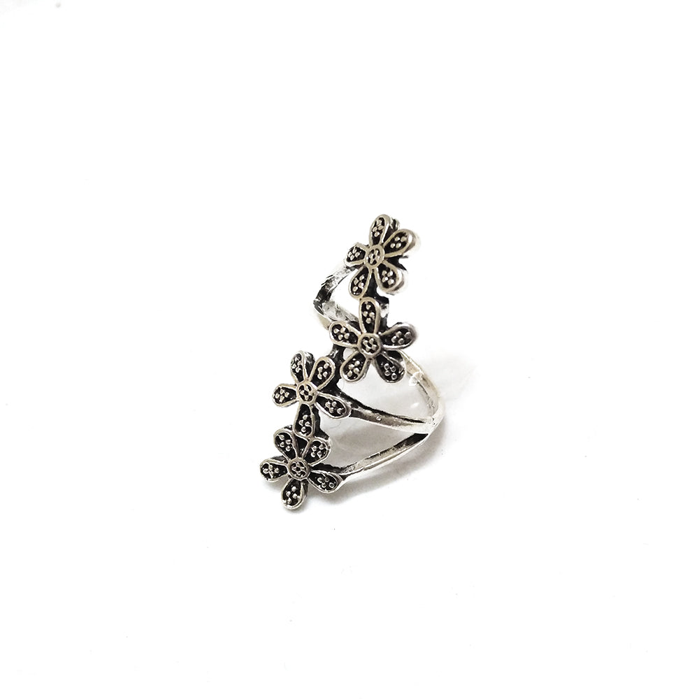 Antique Silver flower ring