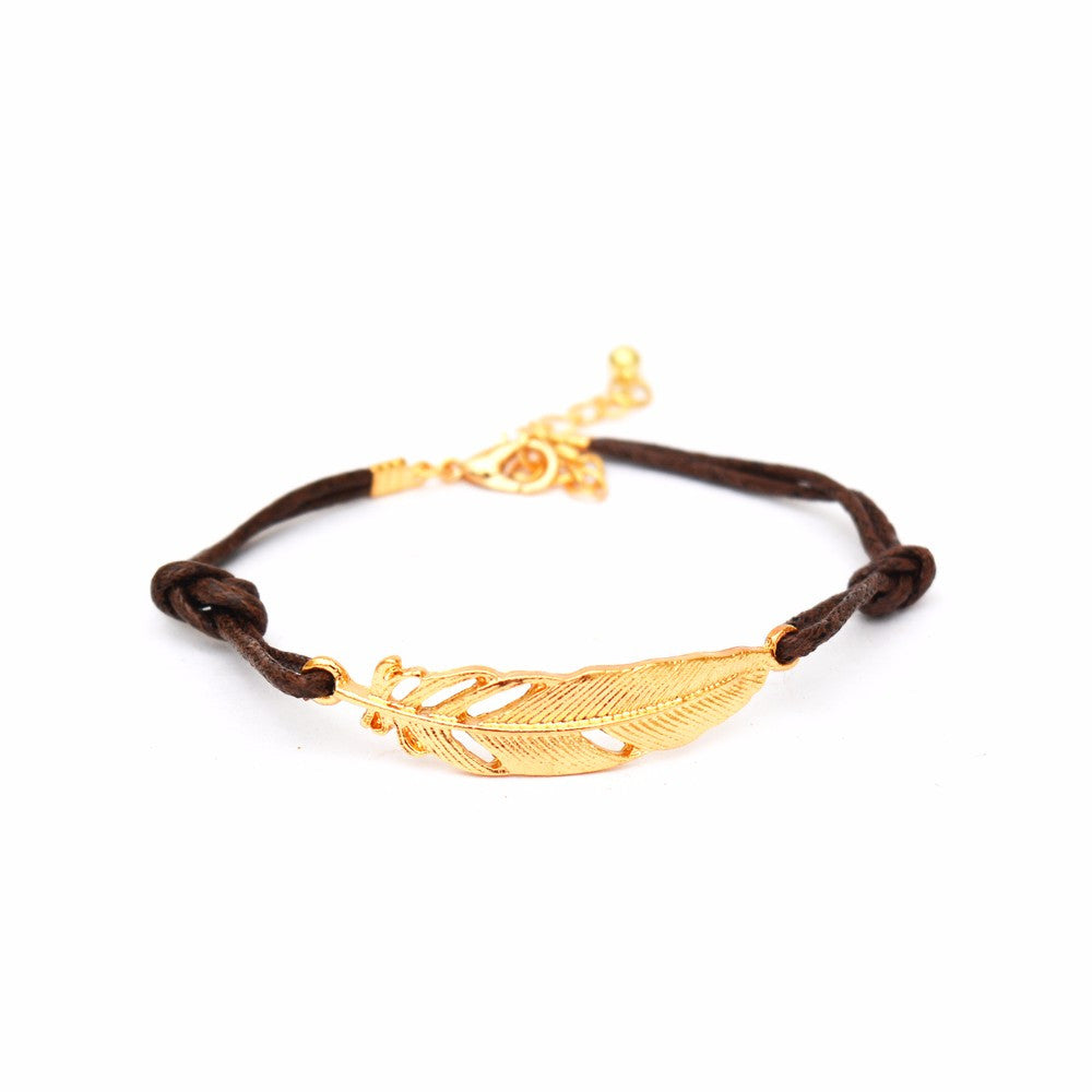 Single leaf Brown Bracelet