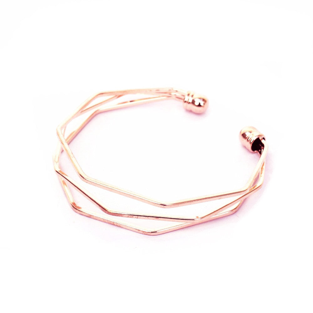 Hexagon Rosegold Bracelet