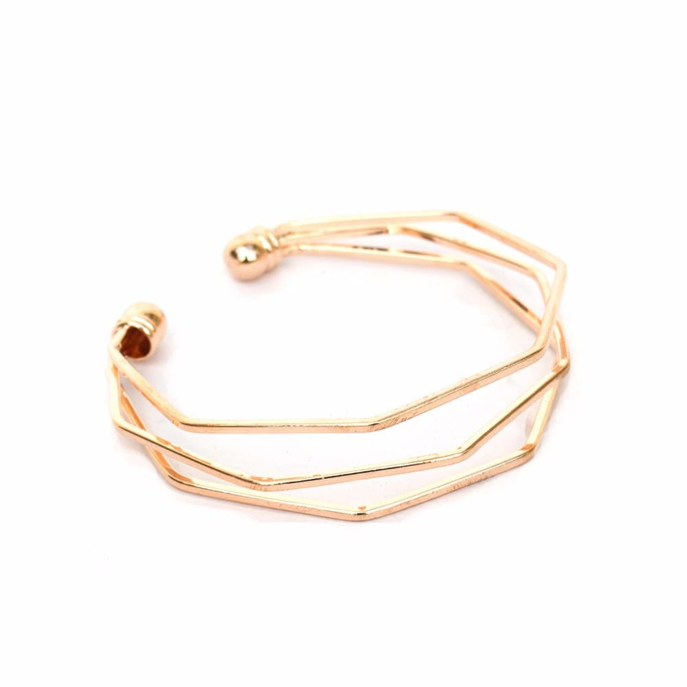 Hexagon Gold Bracelet