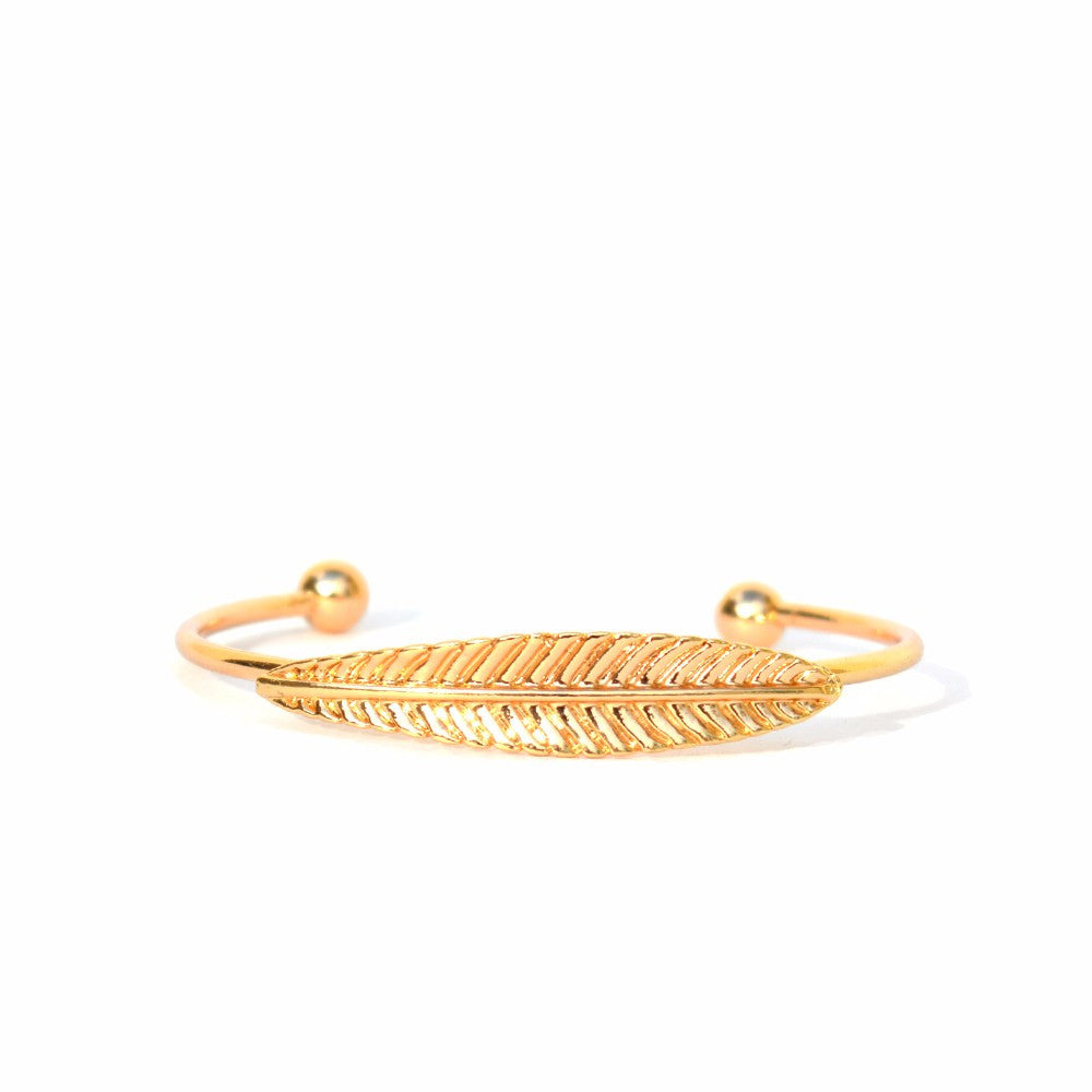 Women Gold leaf bracelet
