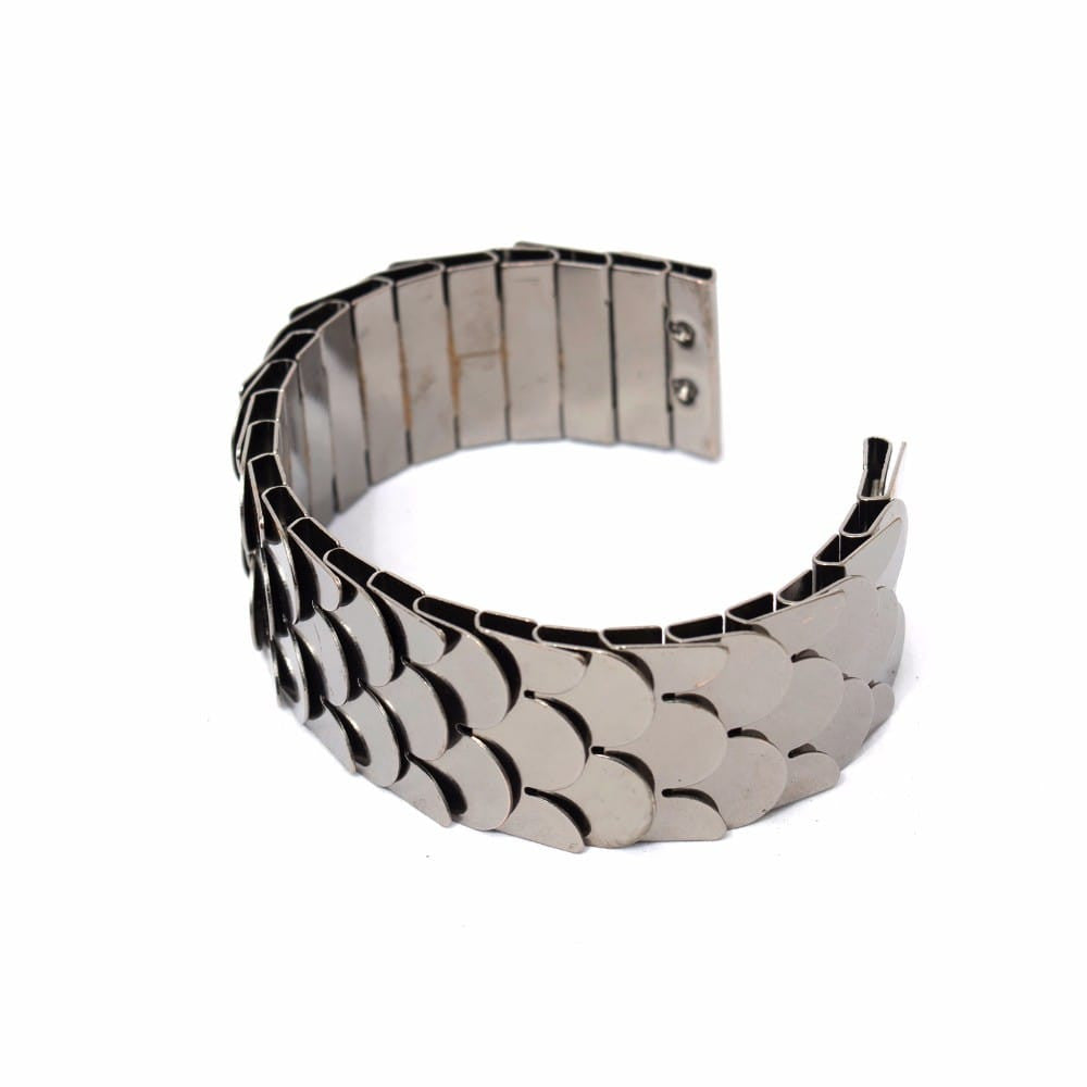 Fish scale Gun Metal Cuff
