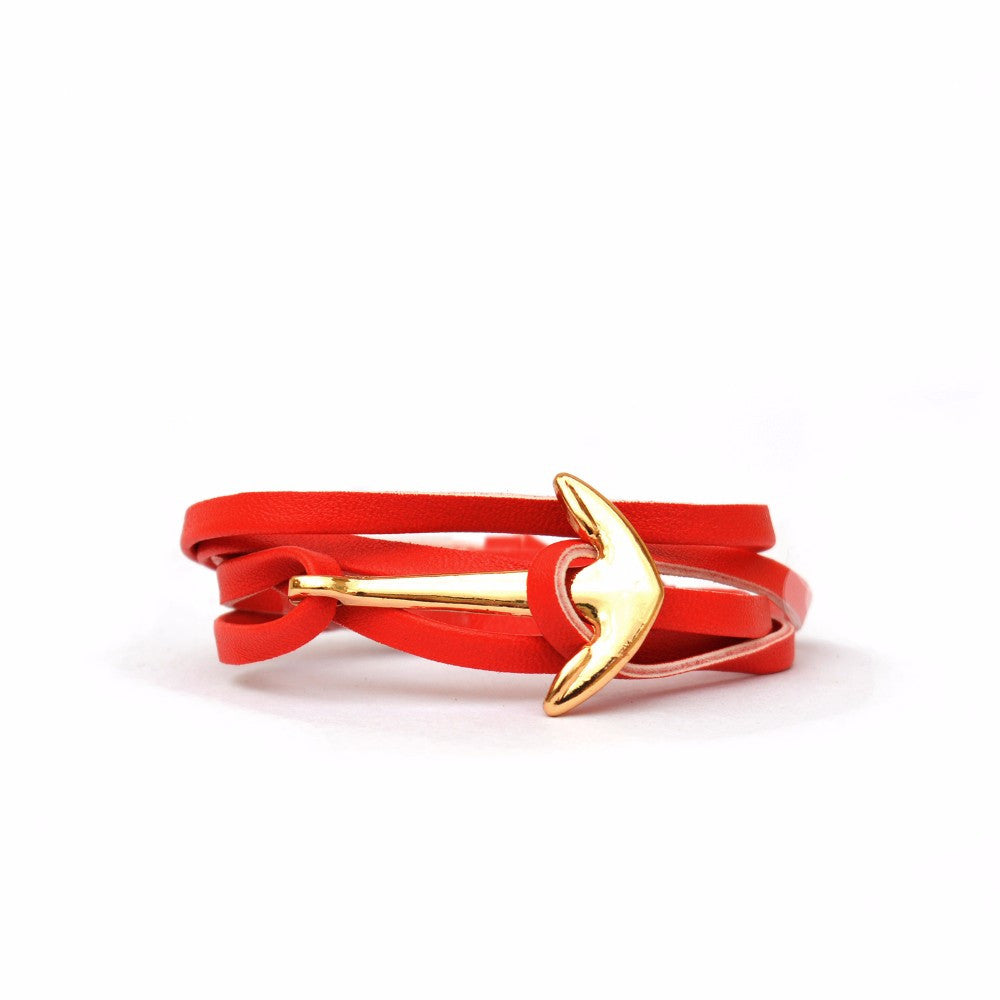 Red Anchor Loop Bracelet - Joker & Witch
