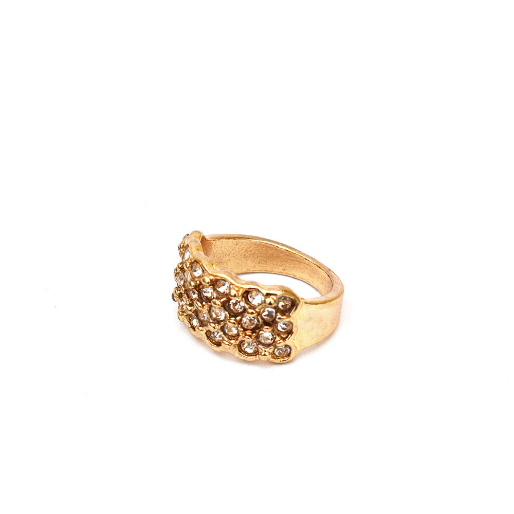 Studded Gold ring