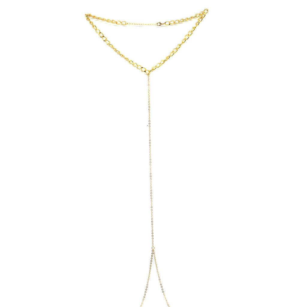 Simple Choker Style Body Chain - Joker & Witch