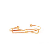 Elegant Bow Open Cuff Rosegold Bracelet - Joker & Witch