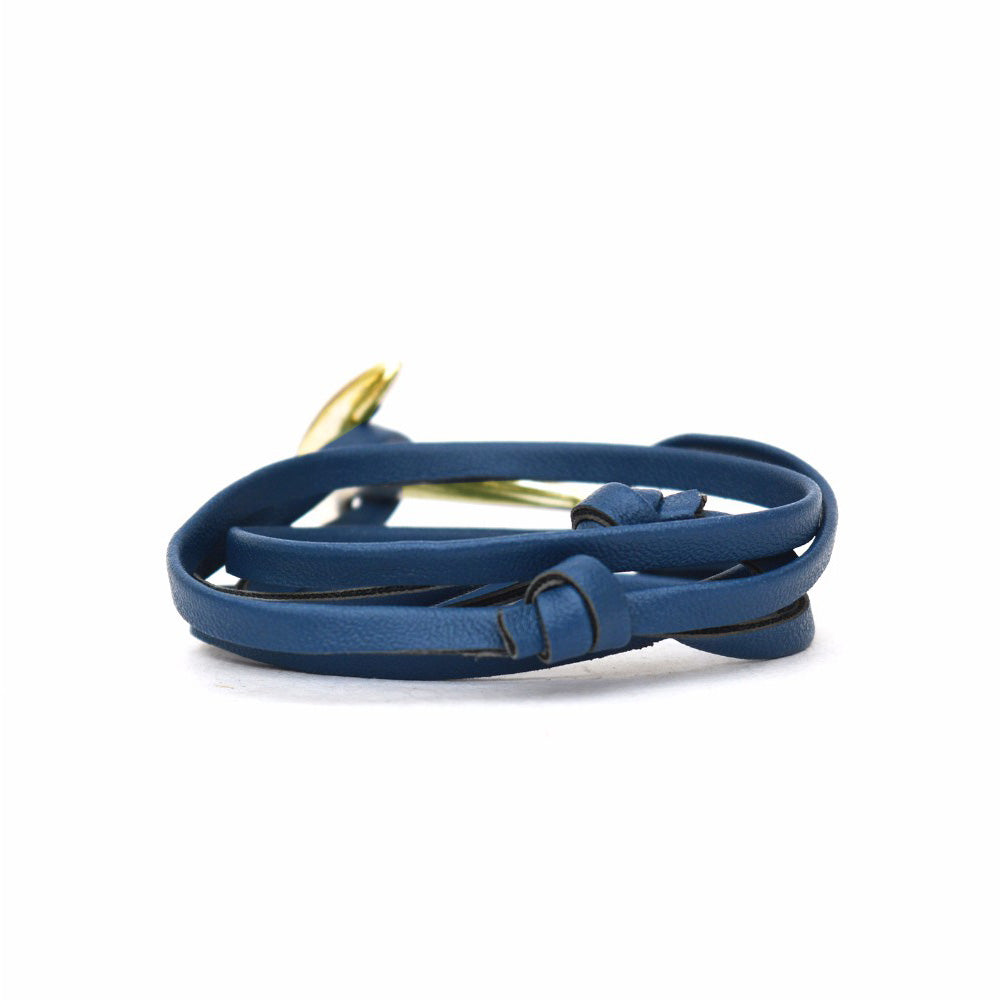 Navy & Gold Anchor Loop Bracelet - Joker & Witch