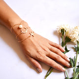Celestial Set of 3 Gold bracelets