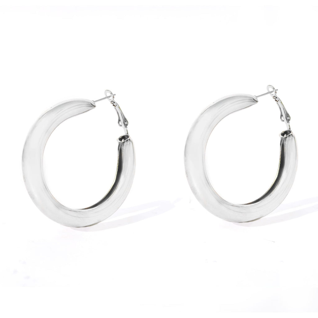 Classic Bold Silver Hoops - Joker & Witch