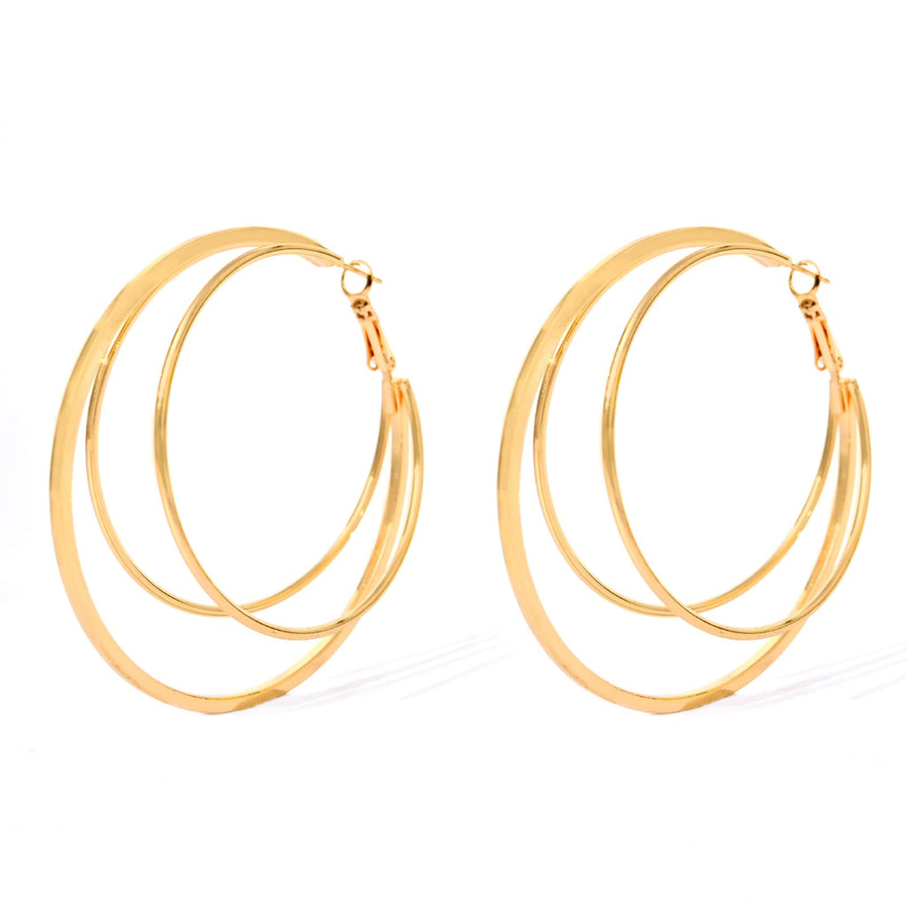Alicia 3 in 1 Gold Hoops