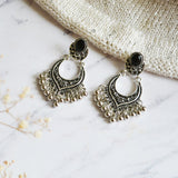 Silver Chandbali Earrings - Joker & Witch