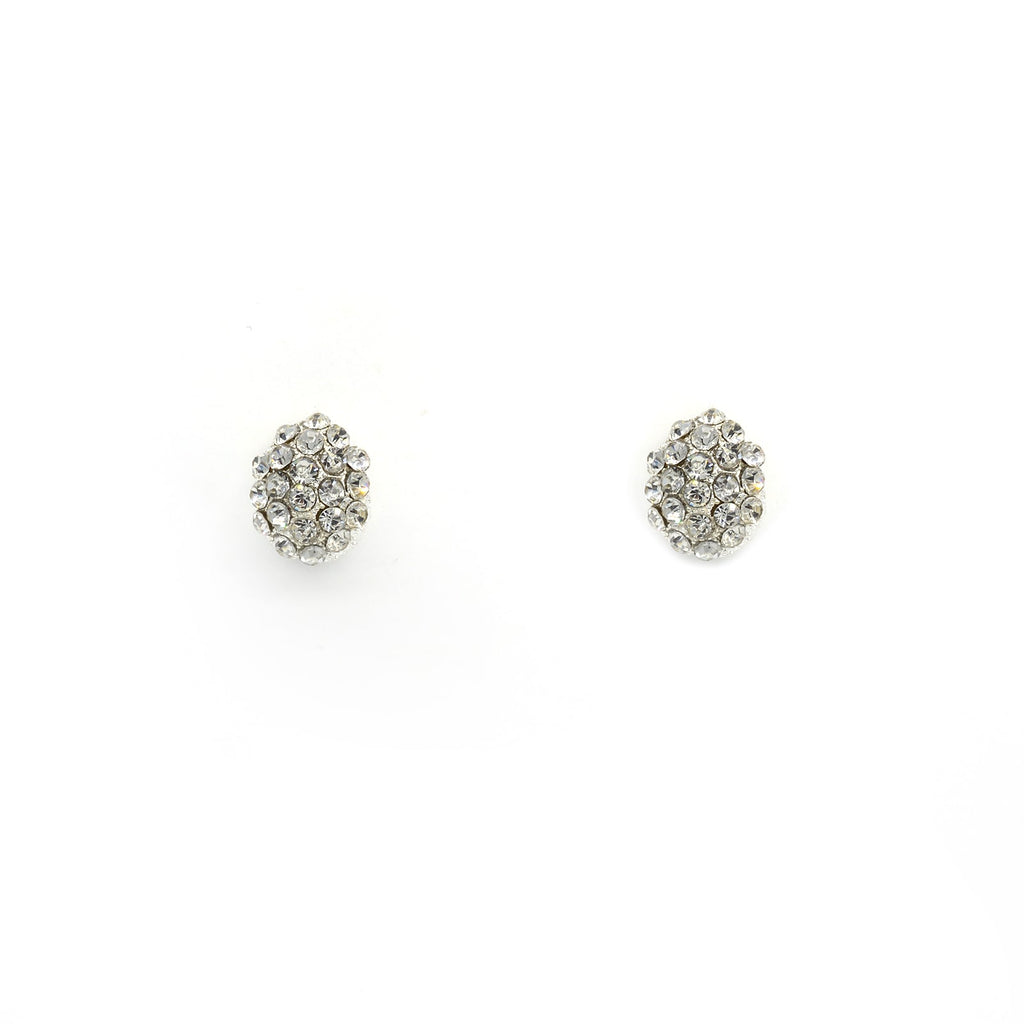Zoe Mini Silver Stud Earrings