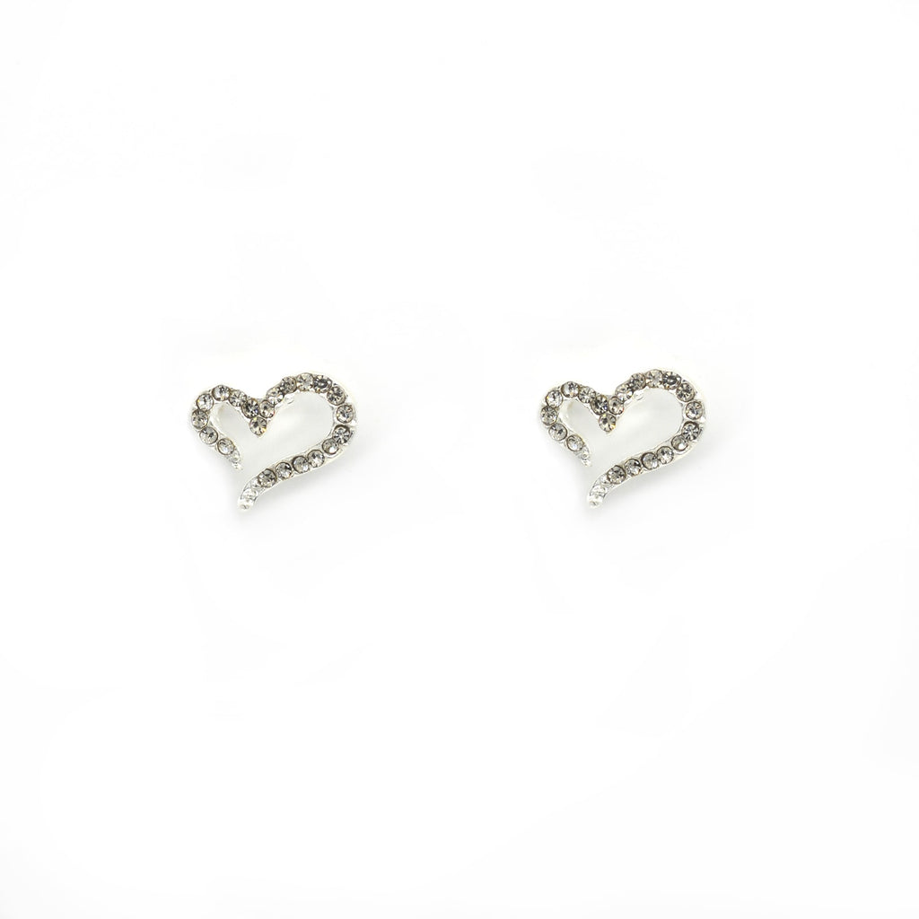 Heart Silver Stud Earrings - Joker & Witch