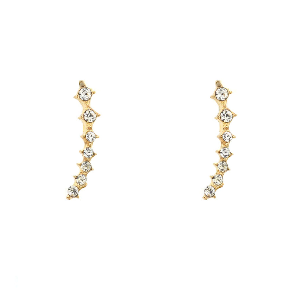 Vanessa Gold Crystal Ear Crawlers - Joker & Witch