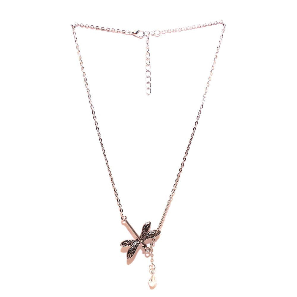 Dragonfly Drop Necklace - Joker & Witch - 1