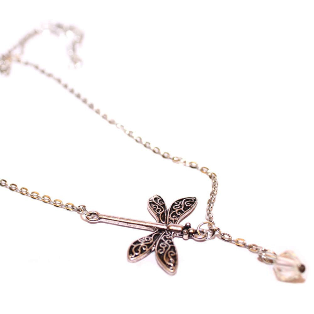 Dragonfly Drop Necklace - Joker & Witch - 2
