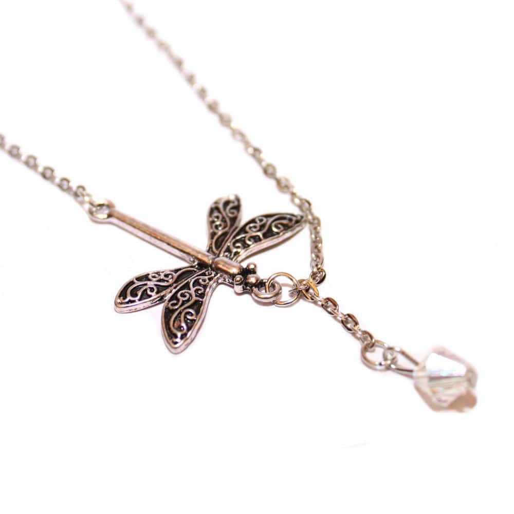Dragonfly Drop Necklace - Joker & Witch - 3