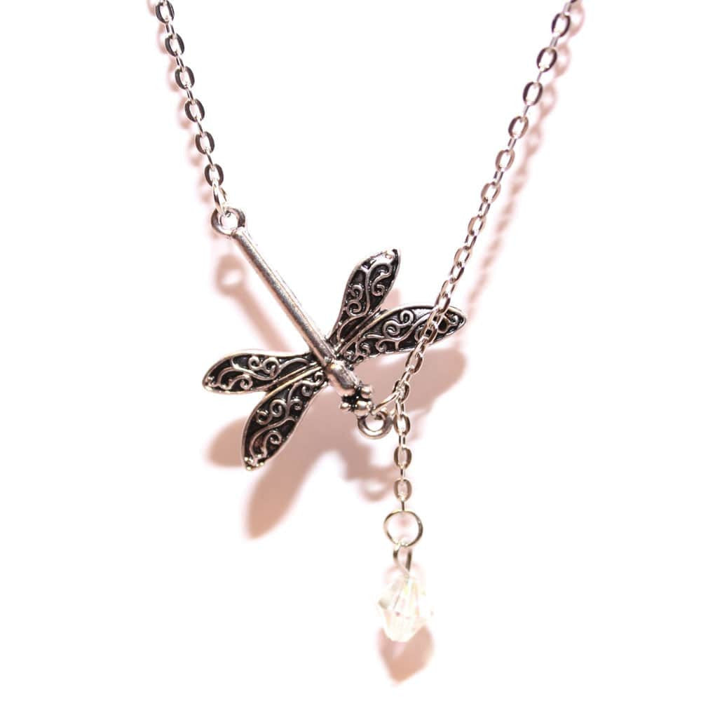 Dragonfly Drop Necklace - Joker & Witch - 4