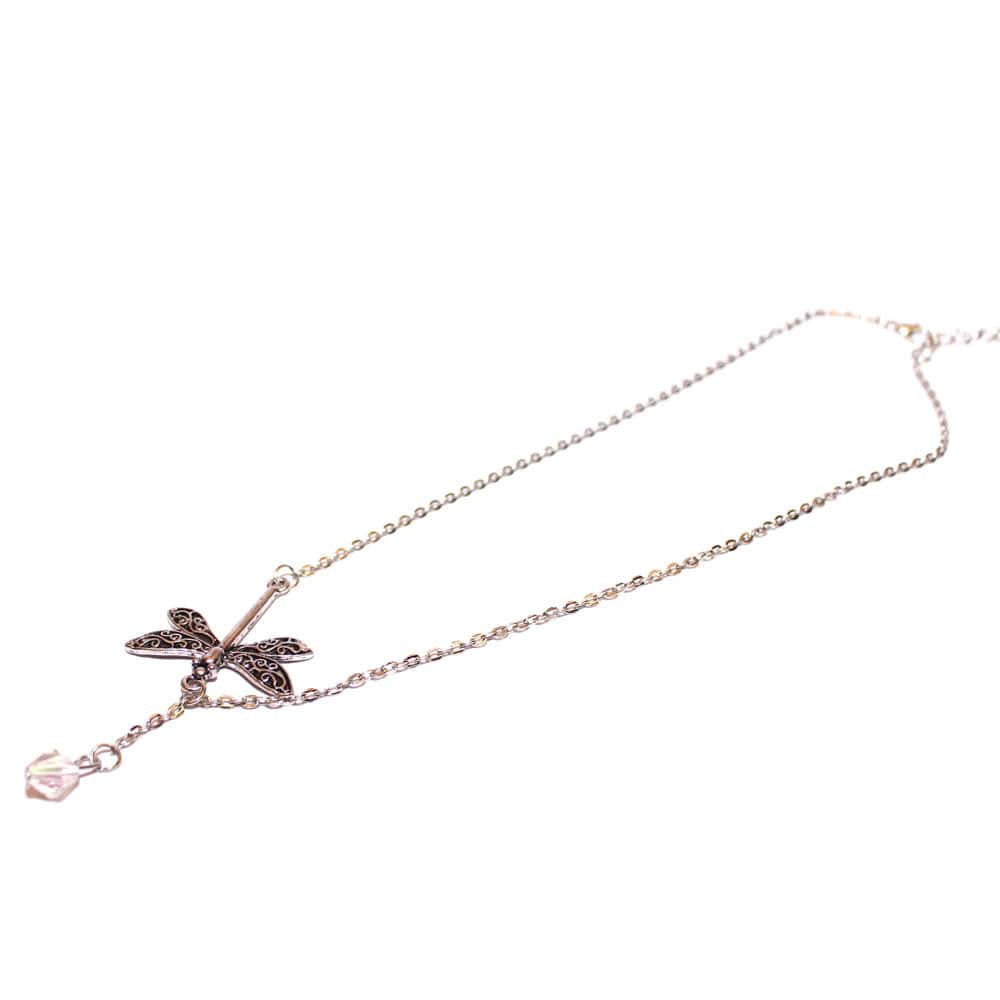 Dragonfly Drop Necklace - Joker & Witch - 5
