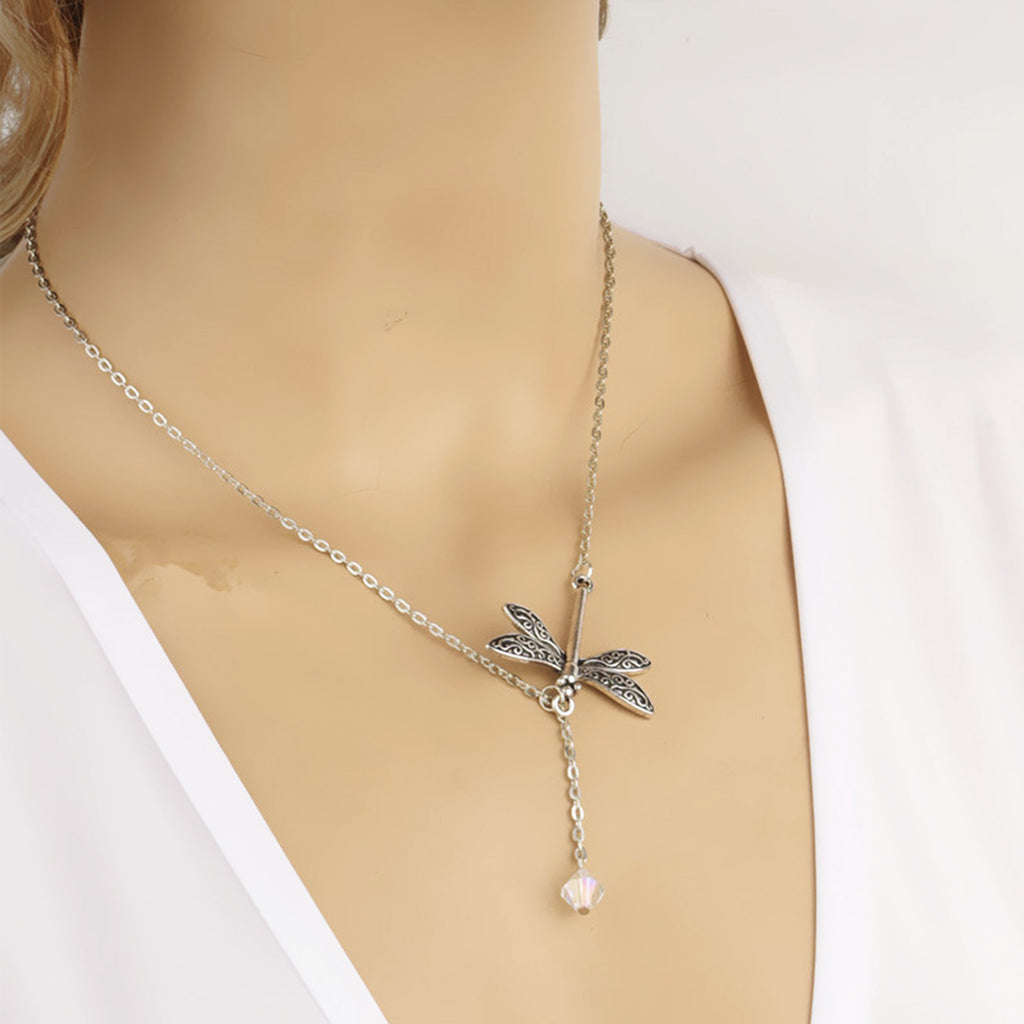 Dragonfly Drop Necklace - Joker & Witch - 6