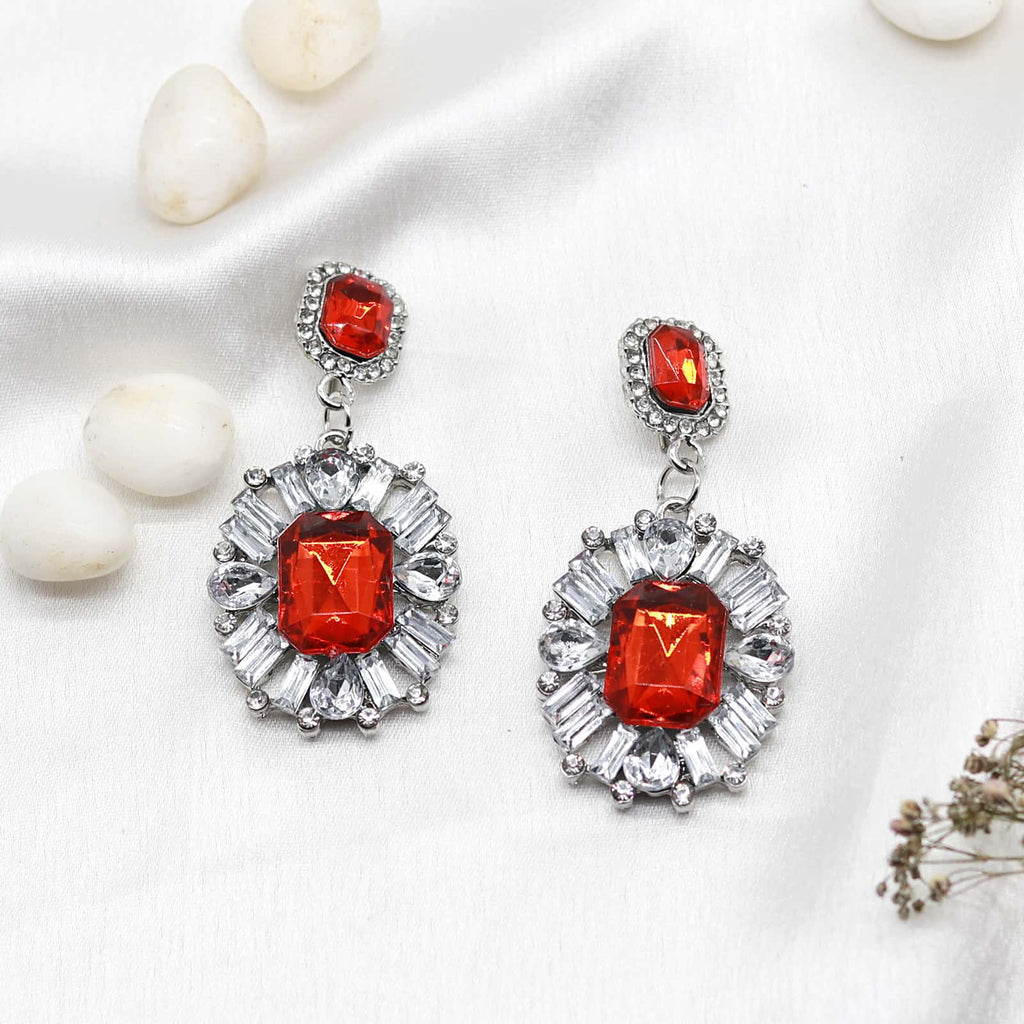 Chateau ruby earrings