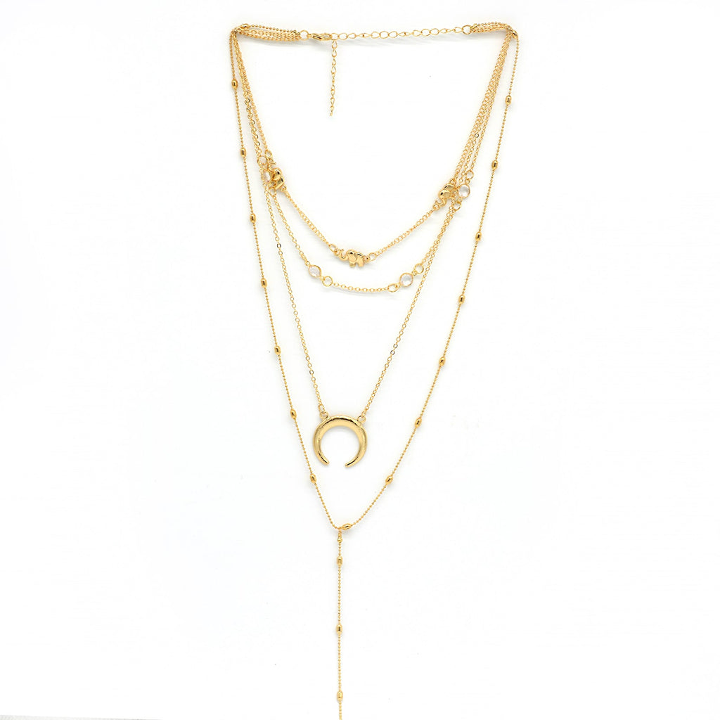 Toronto Layered Y Chain Gold Necklace