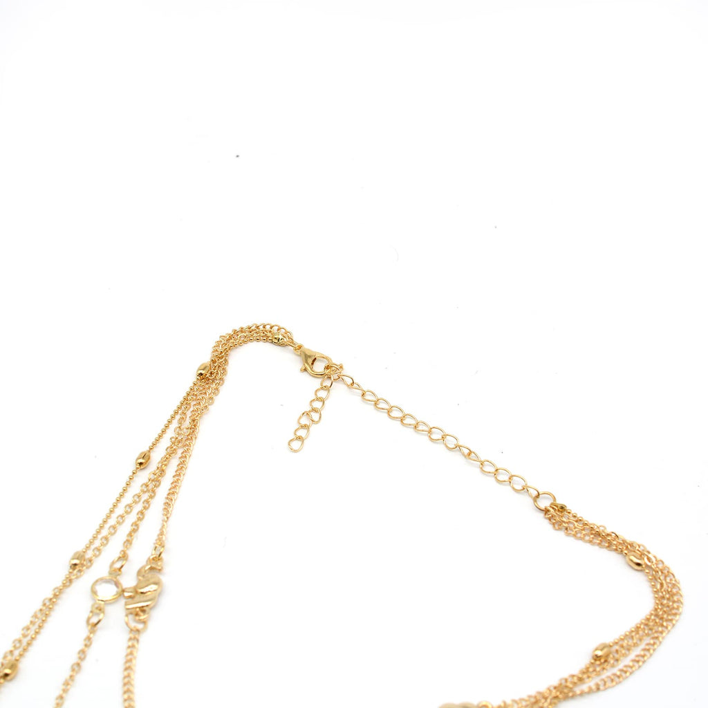 Toronto Layered Y Chain Gold Necklace - Joker & Witch