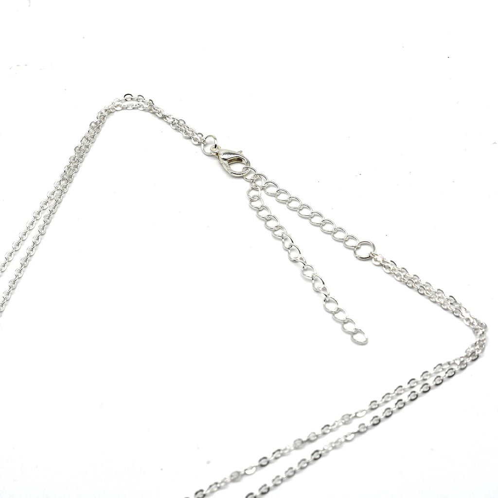 Boston Layred Silver Necklace