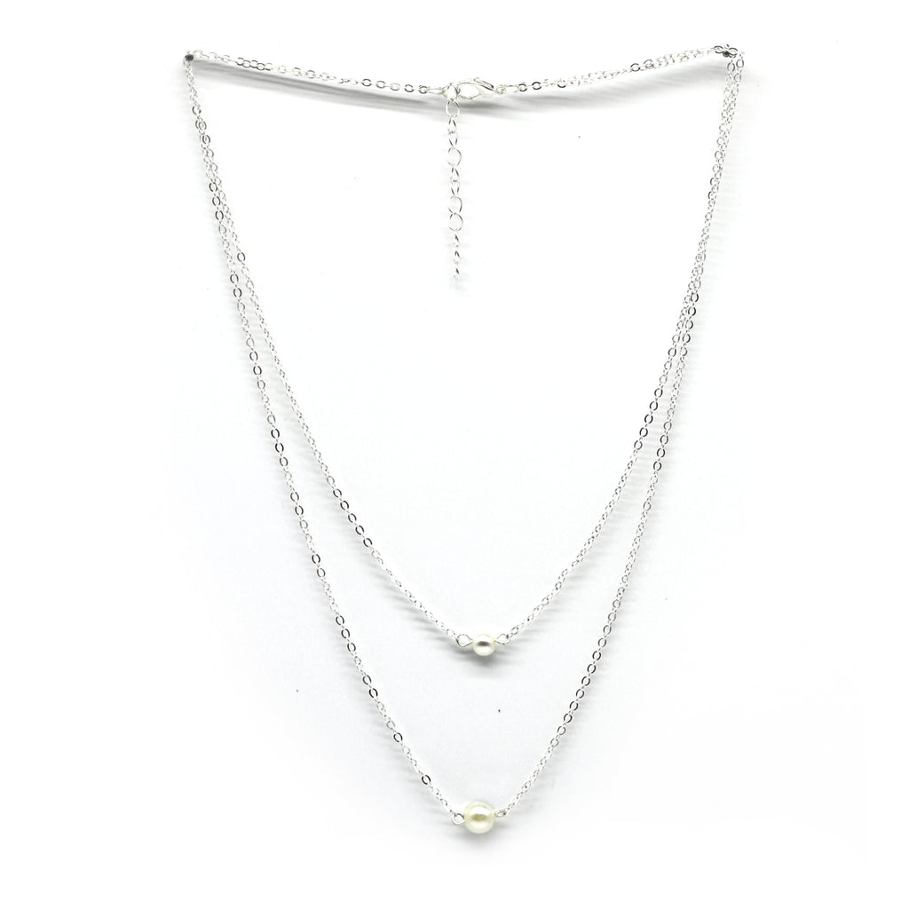 Franklin Silver Pearl Necklace