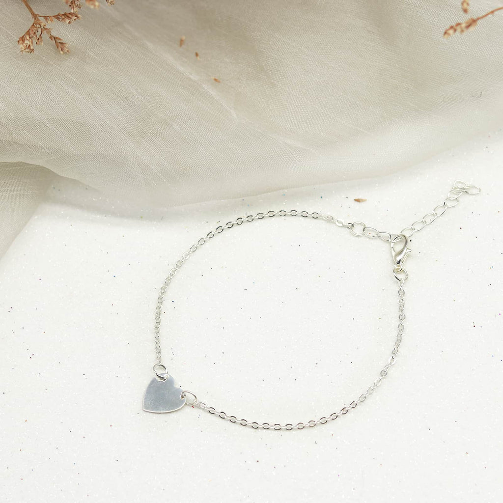 Avery Silver Anklet - Joker & Witch
