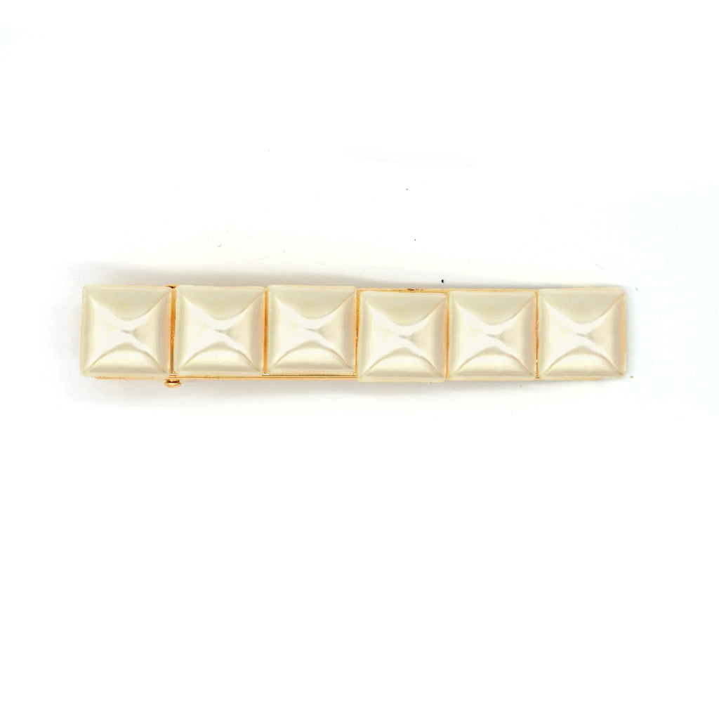 squared pearl gold barrette - Joker & Witch
