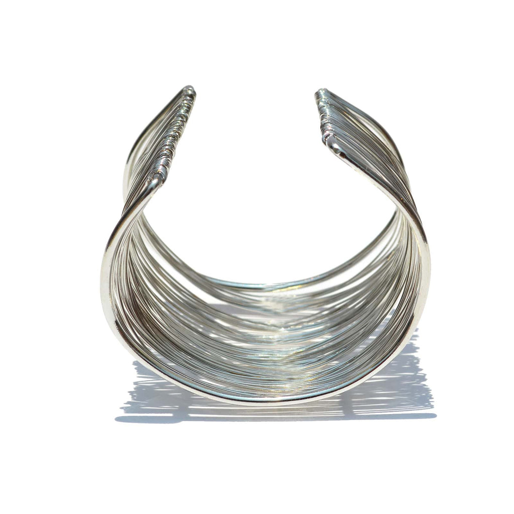 Silver Wire Cuff - Joker & Witch - 7