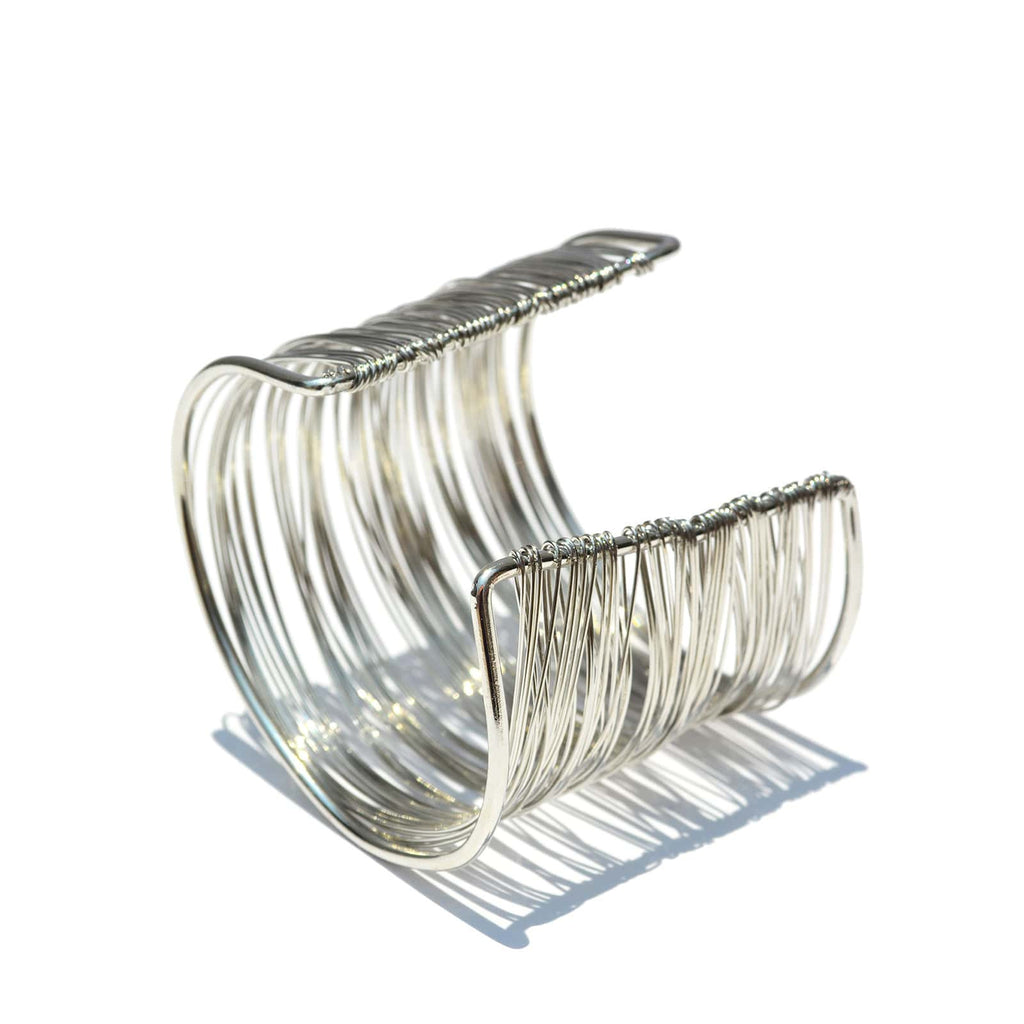 Silver Wire Cuff - Joker & Witch - 8