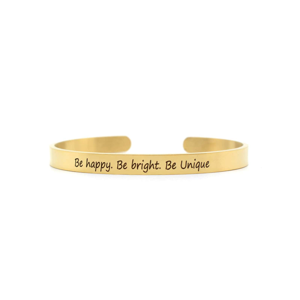 Be Happy, Be Bright, Be Unique Gold Mantra Band - Joker & Witch