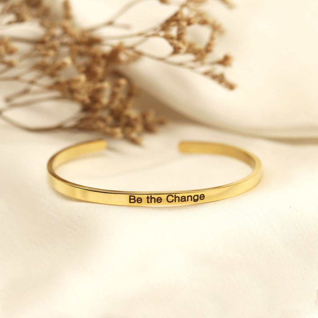 Be The Change Gold Mantra Band - Joker & Witch