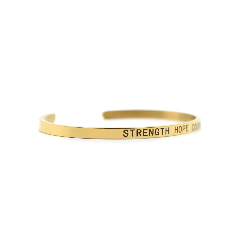 Strength Hope Courage Gold Mantra Band - Joker & Witch