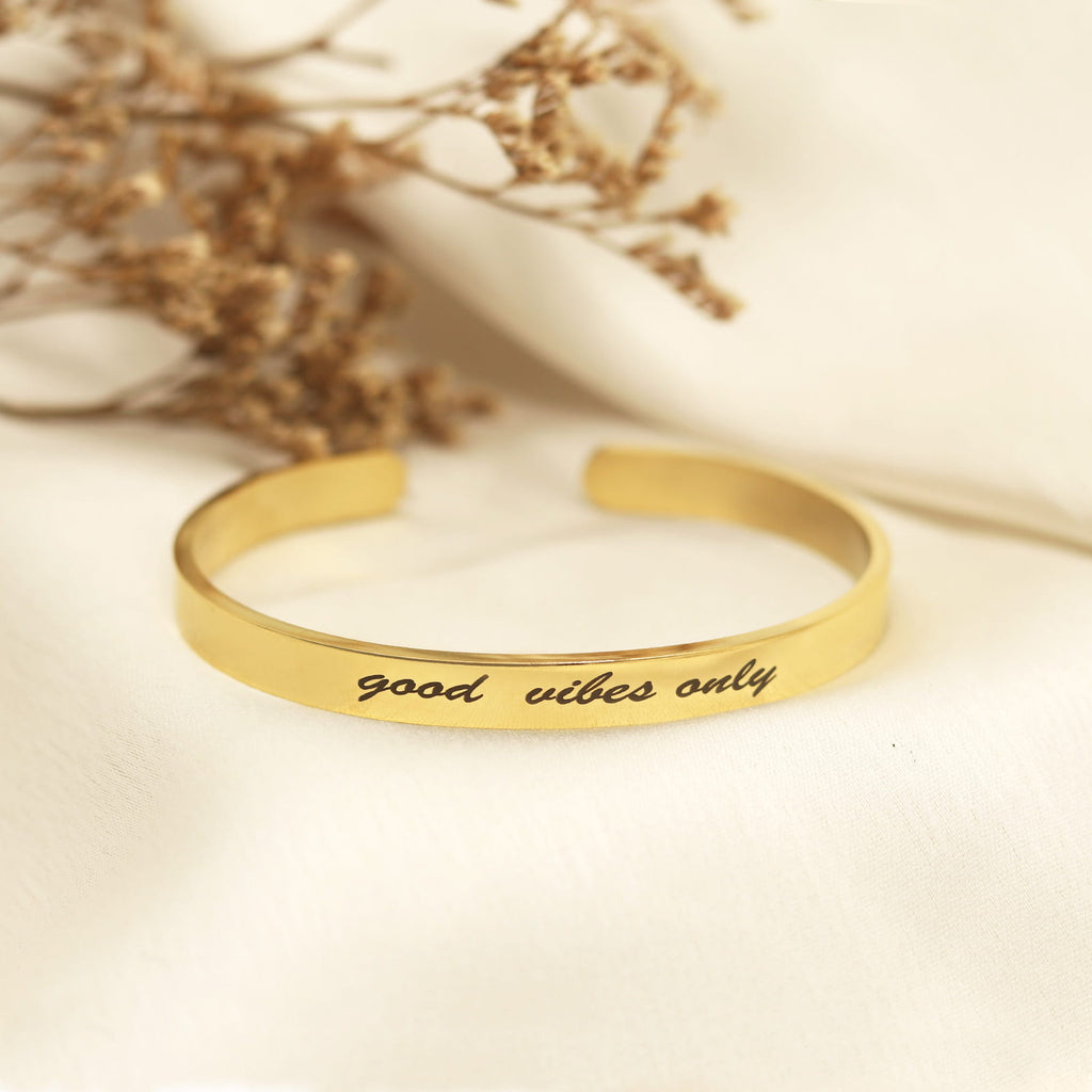 Good Vibes Only Gold Mantra Band - Joker & Witch
