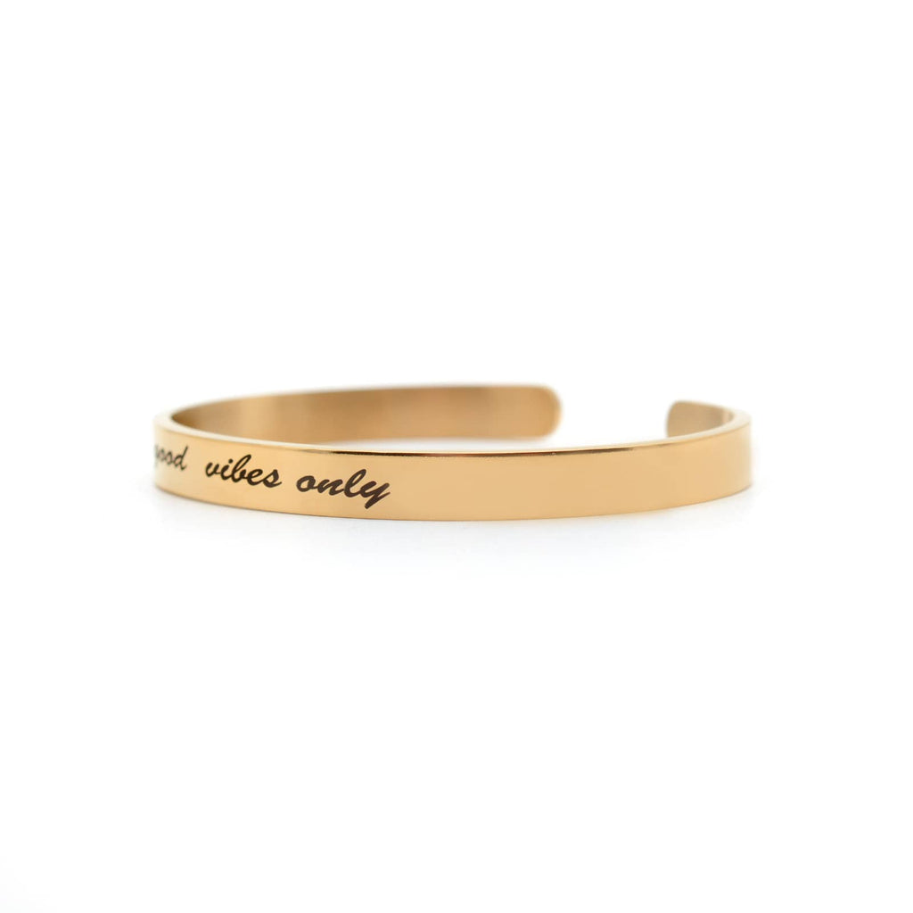 Good Vibes Only Rosegold Quoted Band - Joker & Witch