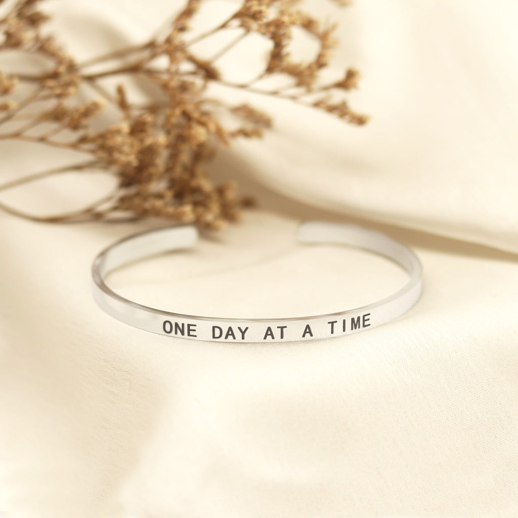 One Day At A Time Silver Mantra Band - Joker & Witch