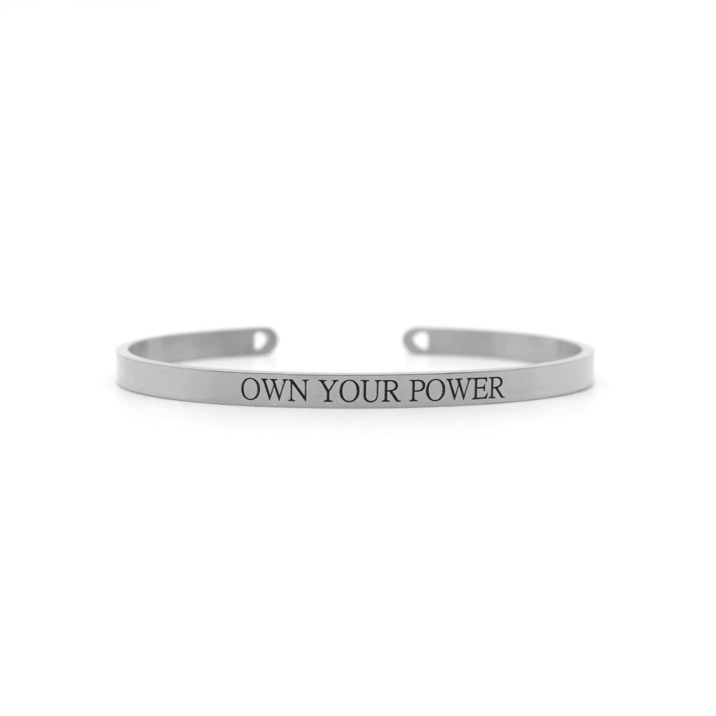 OWN YOUR POWER Silver Mantra Band - Joker & Witch