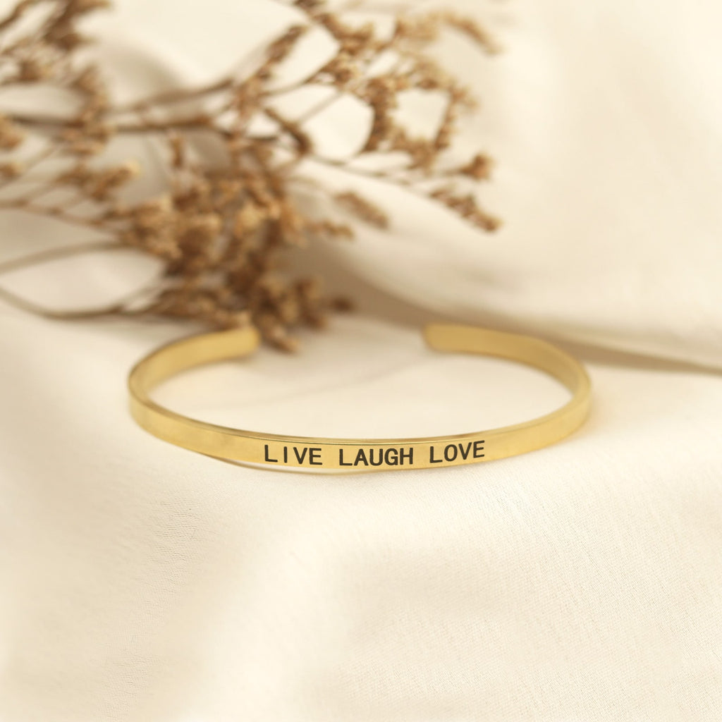 Live Laugh Love Gold Mantra Band - Joker & Witch