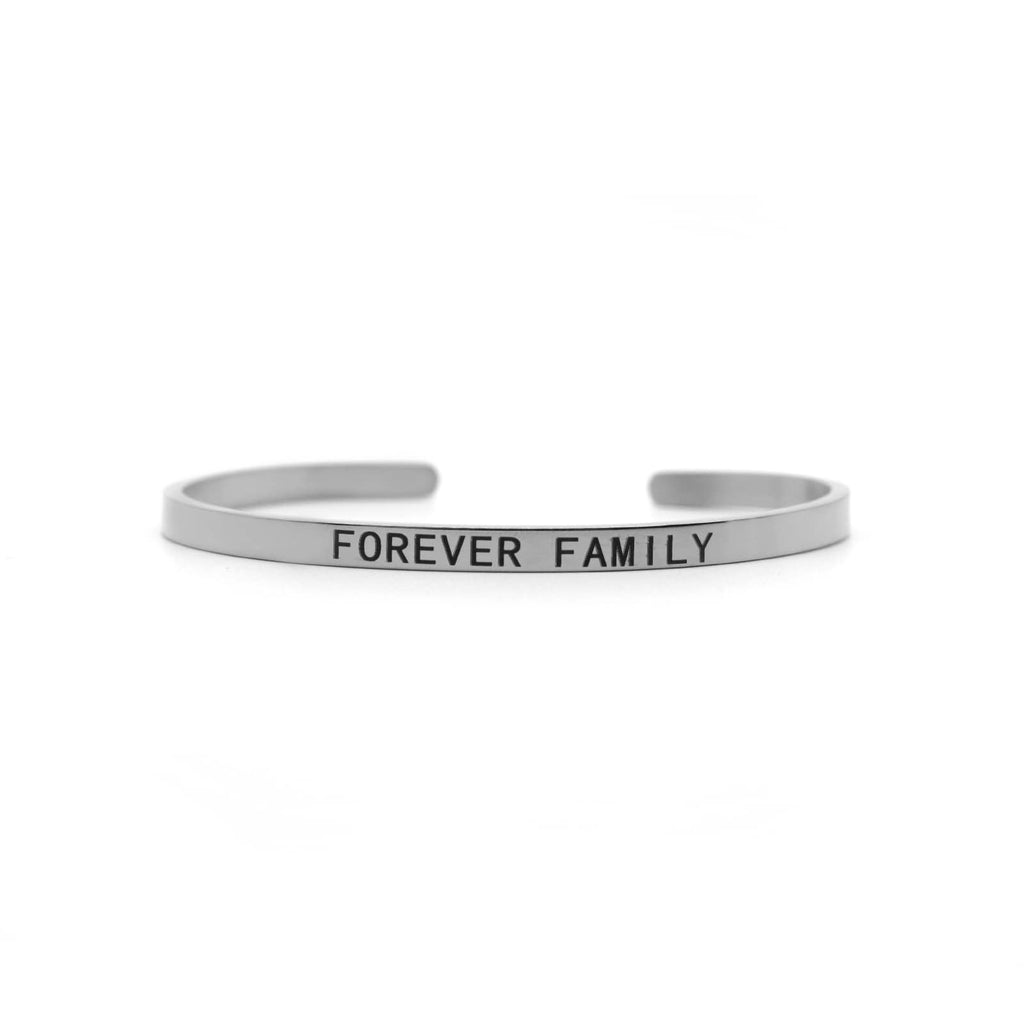 Forever Family Silver Mantra Band - Joker & Witch