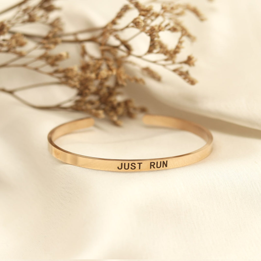 Just Run Rose Gold Mantra Band - Joker & Witch